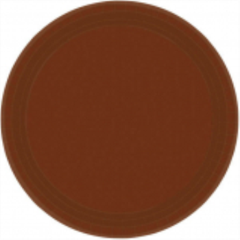 "Picture of CHOCOLATE BROWN 9"" PAPER PLATES"
