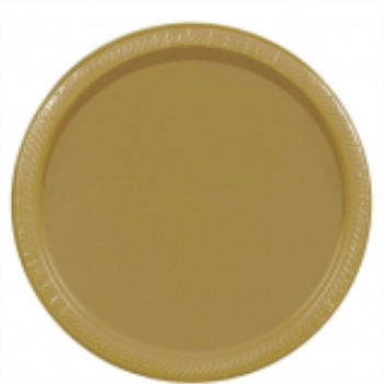 "Picture of GOLD 9"" PAPER PLATES"