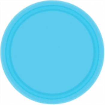 "Picture of CARIBBEAN BLUE 9"" PAPER PLATES"