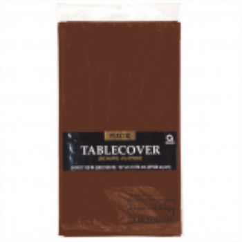Picture of CHOCOLATE BROWN PLASTIC TABLE COVER 54 X 108