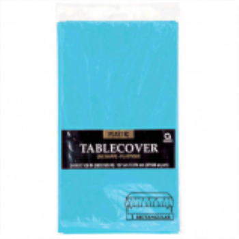 Picture of CARIBBEAN BLUE PLASTIC TABLE COVER 54 X 108