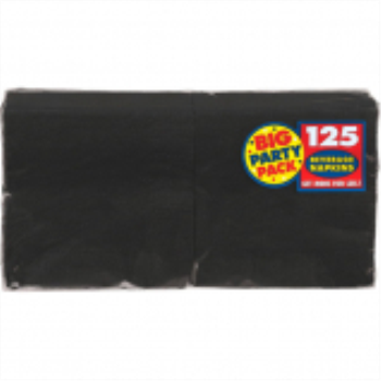 Picture of BLACK BEVERAGE NAPKINS - BIG PARTY PACK