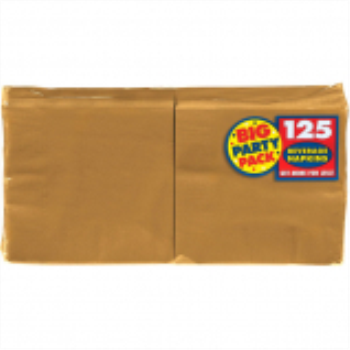 Picture of GOLD BEVERAGE NAPKINS - BIG PARTY PACK