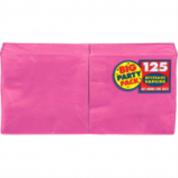 Picture of BRIGHT PINK BEVERAGE NAPKINS - BIG PARTY PACK