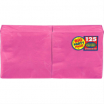 Picture of BRIGHT PINK LUNCHEON NAPKINS - BIG PARTY PACK