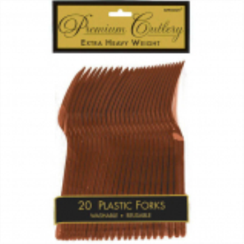 Picture of CHOCOLATE BROWN PREMIUM PLASTIC FORK