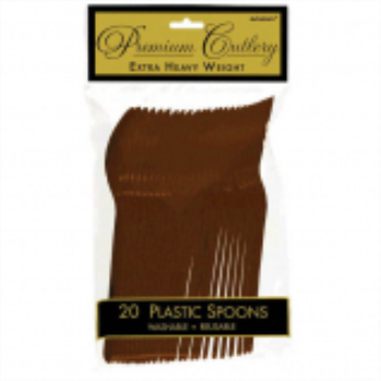 Picture of CHOCOLATE BROWN PREMIUM PLASTIC SPOON