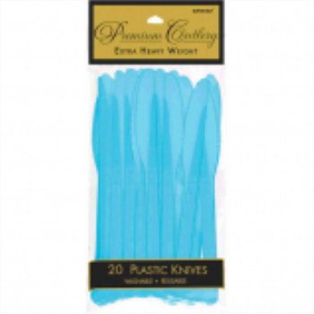 Picture of CARIBBEAN BLUE PREMIUM PLASTIC KNIVES