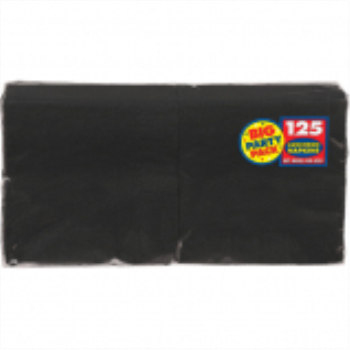 Picture of BLACK LUNCHEON NAPKINS - BIG PARTY PACK