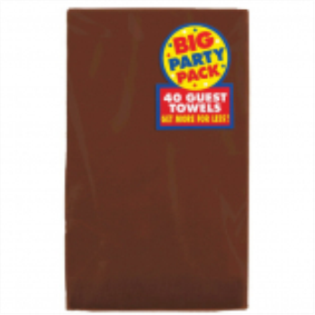Picture of CHOCOLATE BROWN GUEST TOWELS