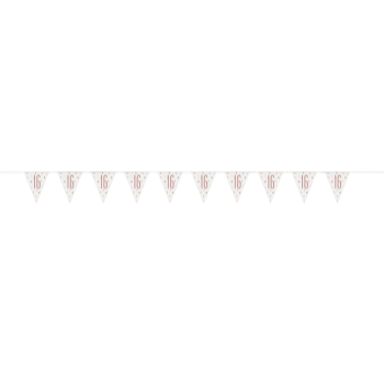 Picture of 16th GLITZ ROSE GOLD PRISM PENNANT BANNER