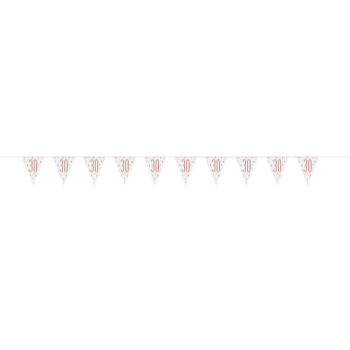 Picture of 30th - GLITZ ROSE GOLD 30th PRISMATIC PENNANT BANNER