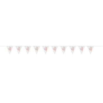 Picture of 40th - GLITZ ROSE GOLD 40th PRISMATIC PENNANT BANNER