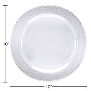 "Picture of CLEAR PEBBLE 10"" PLASTIC PLATES"