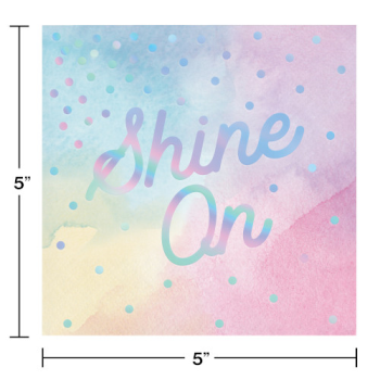 Picture of TABLEWARE - SHINE ON IRIDESCENT - BEVERAGE NAPKINS