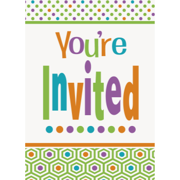 Picture of TABLEWARE - CITRUS DOT BIRTHDAY INVITATIONS