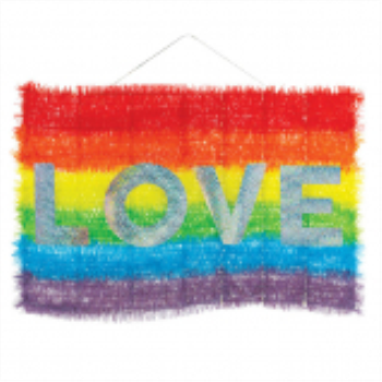 Image de PRIDE TINSEL RAINBOW LOVE HANGING DECORATION