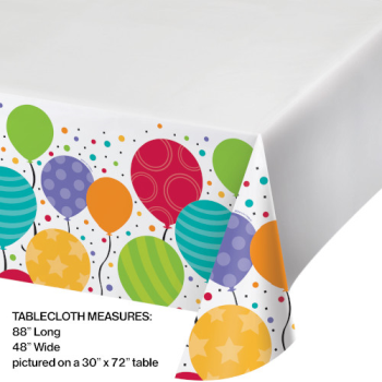 Picture of TABLEWARE - SHIMMERING BALLOONS - TABLE COVER