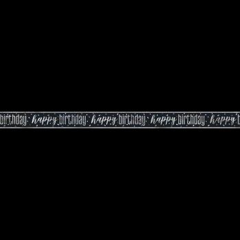 Picture of DECOR - GLITZ BLACK HAPPY BIRTHDAY PRISMATIC BANNER - 9'