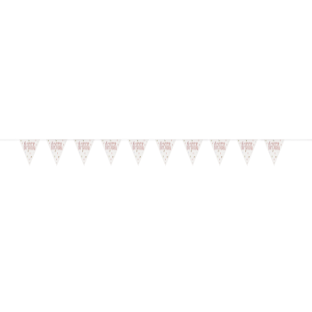 Picture of DECOR - GLITZ ROSE GOLD PRISMATIC PENNANT BANNER
