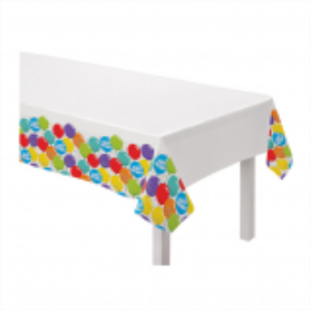 Picture of TABLEWARE - Birthday Celebration - Plastic Table Cover