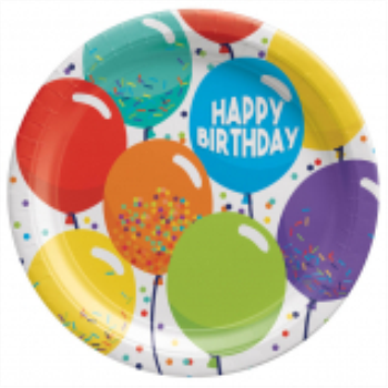 """Picture of TABLEWARE - Birthday Celebration - 7"""" Round Plates"""