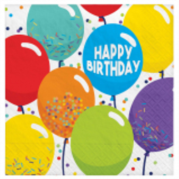 Picture of TABLEWARE - Birthday Celebration - Luncheon Napkins