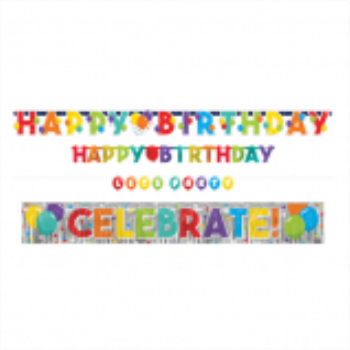Picture of DECOR - BIRTHDAY CELEBRATION 4 IN 1 VALUE PACK BANNERS