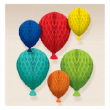 Picture of DECOR - Birthday Celebration Honeycomb Decorations