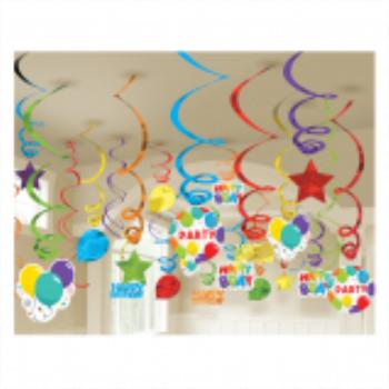 Picture of DECOR - Birthday Celebration Mega Value Pack Swirls