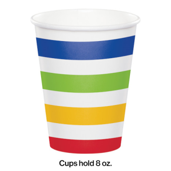 Picture of TABLEWARE - DOTS AND STRIPES 9oz CUPS