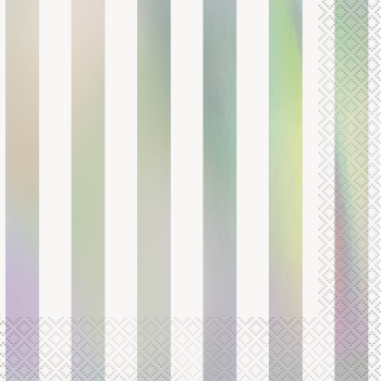 Picture of IRIDESCENT STRIPE LUNCHEON NAPKINS