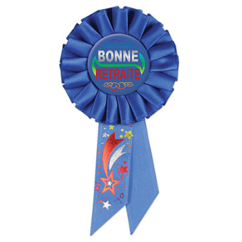 Image de BONNE RETRAITE AWARD BUTTON - ROYAL BLUE