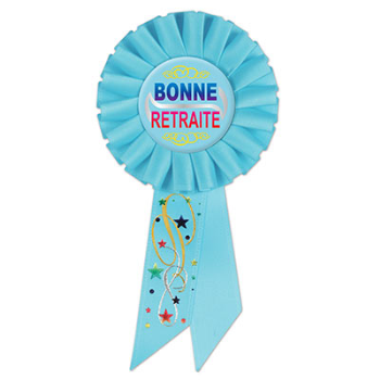 Image de BONNE RETRAITE AWARD BUTTON - LIGHT BLUE