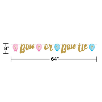 Picture of GENDER REVEAL - BOW OR BOW TIE LETTER BANNER