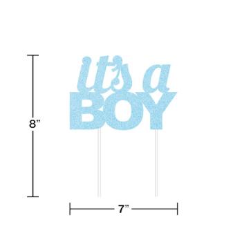 Picture of IT'S A BOY BOY GLITTER CAKE TOPPER