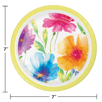 """Picture of WATERCOLOR FLORAL 7"""" PLATES"""