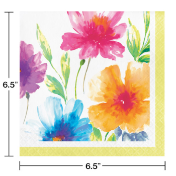 Picture of WATERCOLOR FLORAL LUNCHEON NAPKINS
