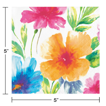 Picture of WATERCOLOR FLORAL BEVERAGE NAPKINS