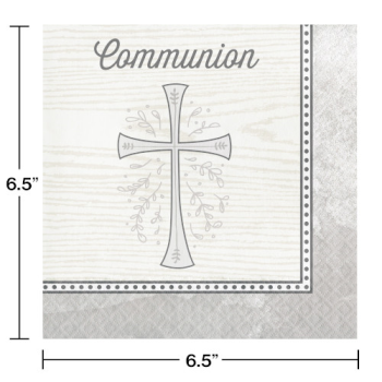 Image de TABLEWARE - DIVINITY SILVER LUNCHEON NAPKINS - COMMUNION