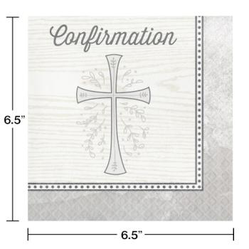 Image de TABLEWARE - DIVINITY SILVER LUNCHEON NAPKINS - CONFIRMATION