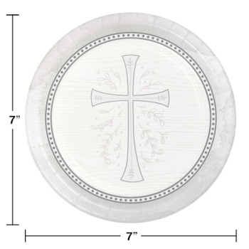 "Picture of TABLEWARE - DIVINITY SILVER 7"" PLATES"