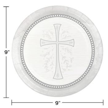 """Image de TABLEWARE - DIVINITY SILVER 9"""" PLATES"""