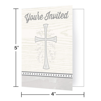 Picture of TABLEWARE - DIVINITY SILVER INVITATIONS