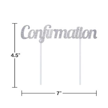 Image de DECOR - CONFIRMATION SILVER GLITTER CAKE TOPPER