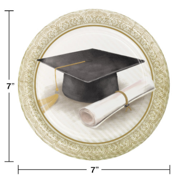 "Picture of CLASSIC GRADUATION 7"" PLATES"