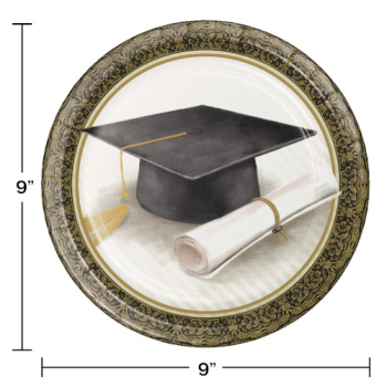 "Picture of CLASSIC GRADUATION 9"" PLATES"