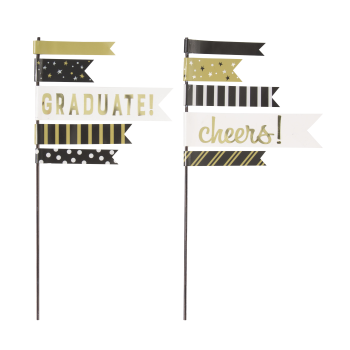 Picture of DECOR - GRAD PENNANT FLAG CAKE TOPPER