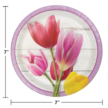 "Image de BEAUTIFUL BLOSSOMS 7"" PLATES"