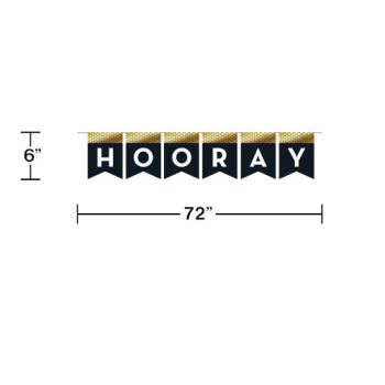 Picture of DECOR - HOORAY FLAG BANNER